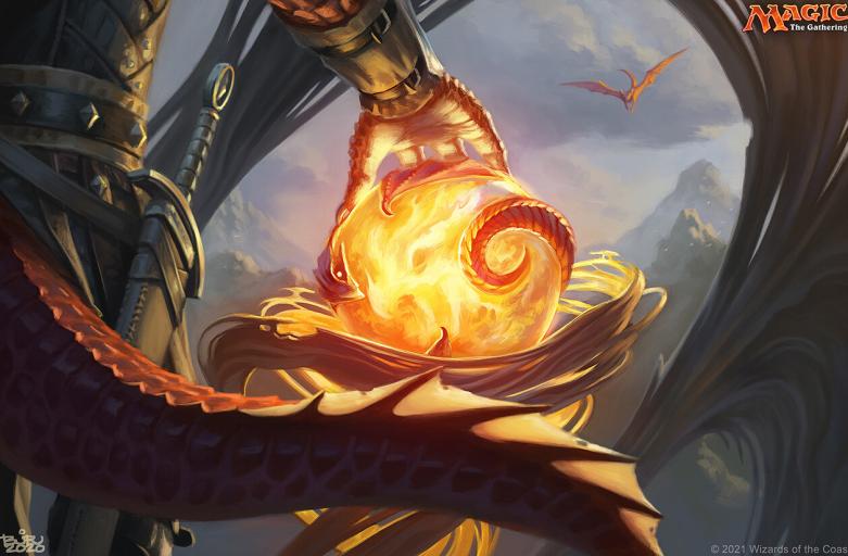 orb of dragonkind mtg art