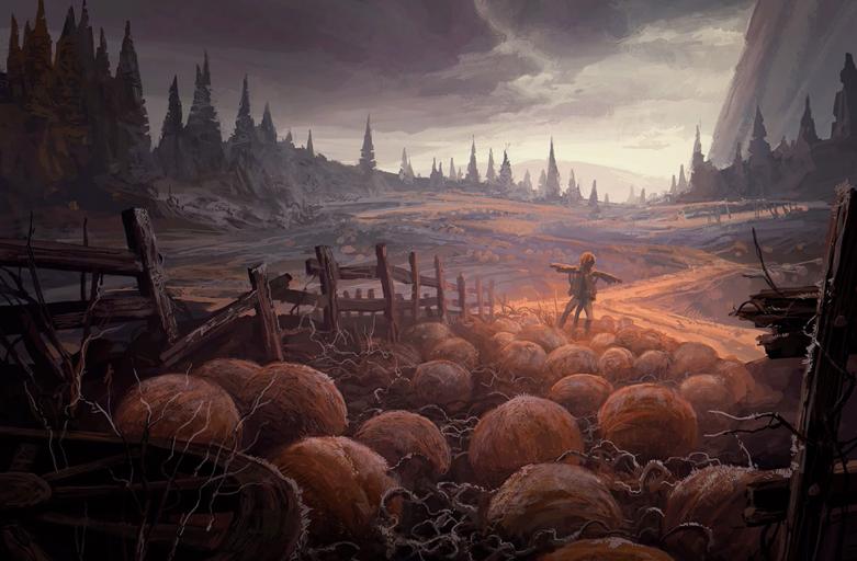 mtg innistrad pumpkin plains art